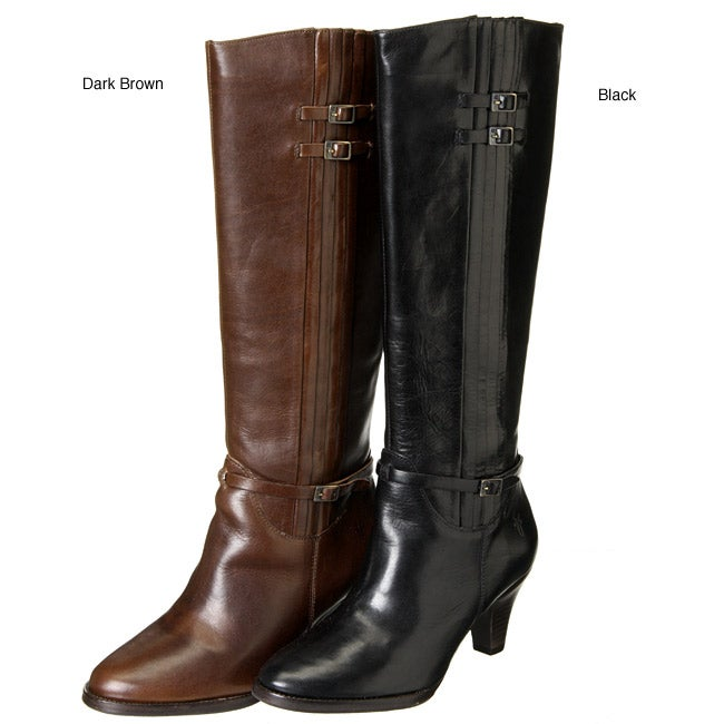 69b49503f2a02 Shop Frye Women s  Tina  Tall Pleat Knee-high Boots - Free Shipping Today -  Overstock - 3185214