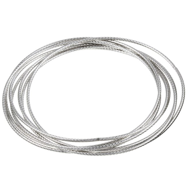 Shop Sterling Essentials Sterling Silver 7 Day Diamond Cut Bangle