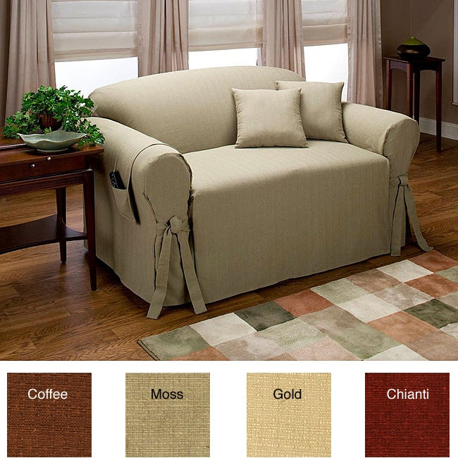 kent sofa slipcover w 2 matching pillows free shipping today 11305719. Black Bedroom Furniture Sets. Home Design Ideas