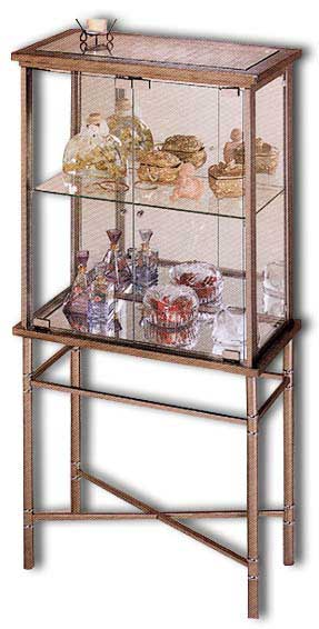 Metal And Gl Curio Cabinet