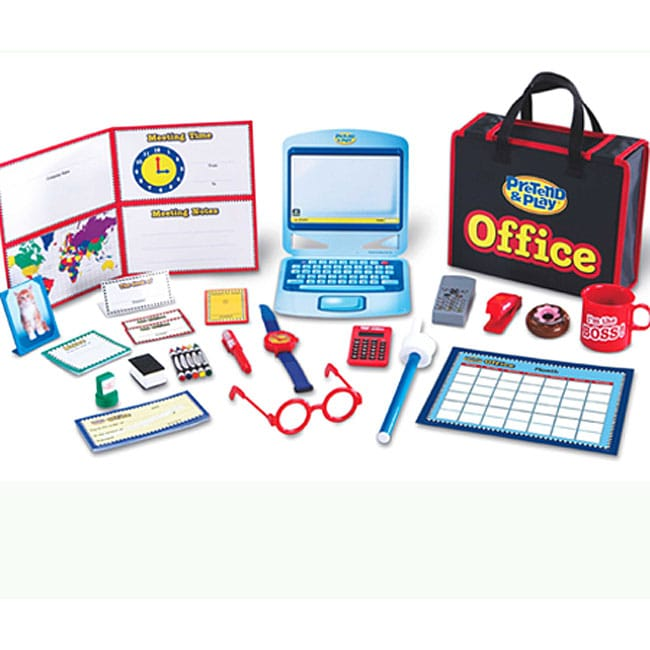 Pretend and Play Realistic 74-piece Plastic Role-playing Office Set