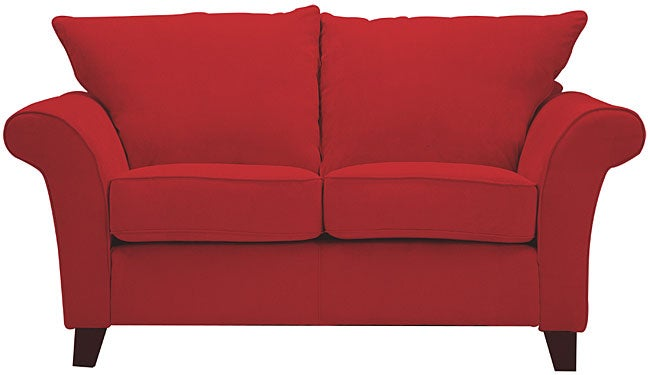 Shop Provence Crimson Red Flared Arm Loveseat Free
