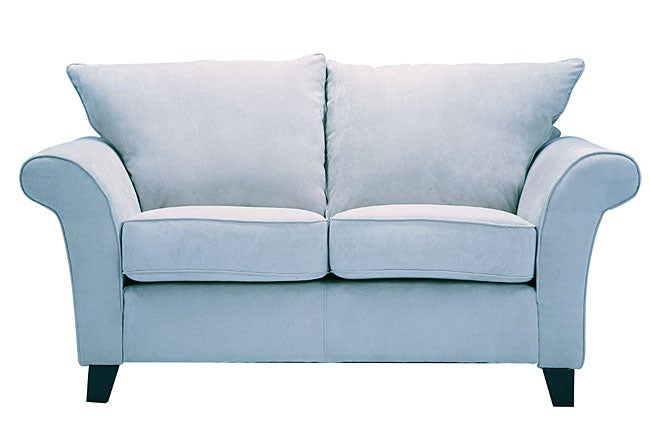 Provence Sky Blue Microfiber Flared Arm Loveseat