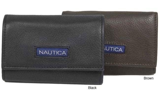 Nautica Men's Genuine Leather Key Case Wallet