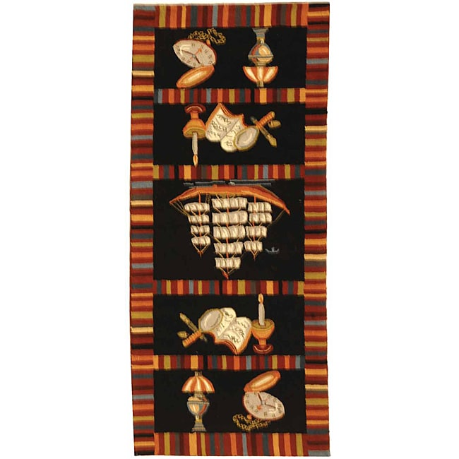 Safavieh Hand-hooked Explorer Black Wool Rug - 6' x 9'