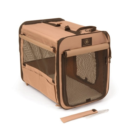 Bone Voyage Taupe Large Pup Tent Pet Carrier