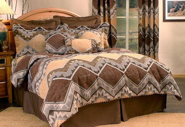 Barranca Brown 4-piece Comforter Set (Full)