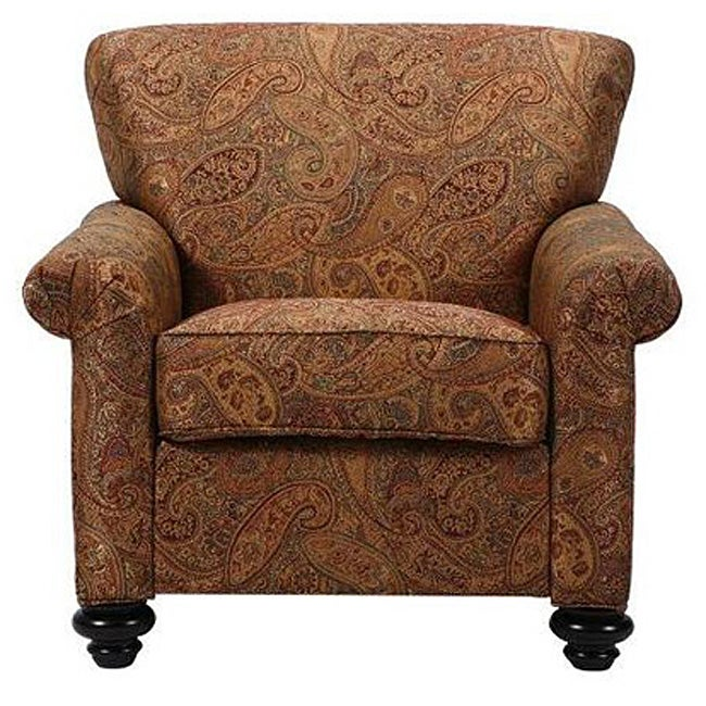 Capri Eight way Hand Tied Brown Paisley Arm Chair Free  : L11341862 from www.overstock.com size 650 x 650 jpeg 82kB