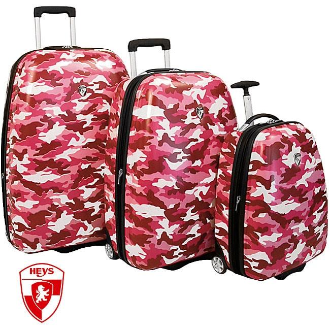 Heys Pink Camouflage 3-piece Hardside Luggage Set - Free Shipping ...