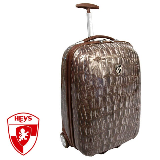 Heys XCase Exotic Crocodile 20-inch Polycarbonate Carry-on