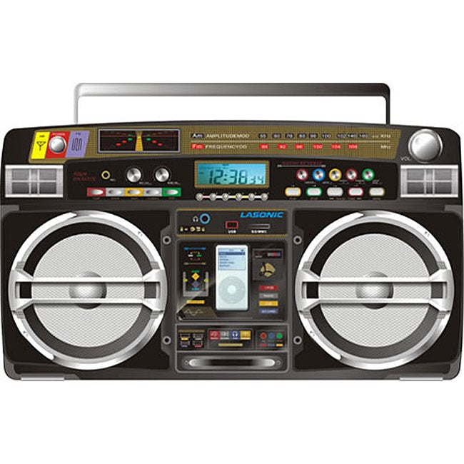 Lasonic i931 ghetto blaster with ipod dock free shipping today overstock - Ghetto blaster lasonic i931 ...