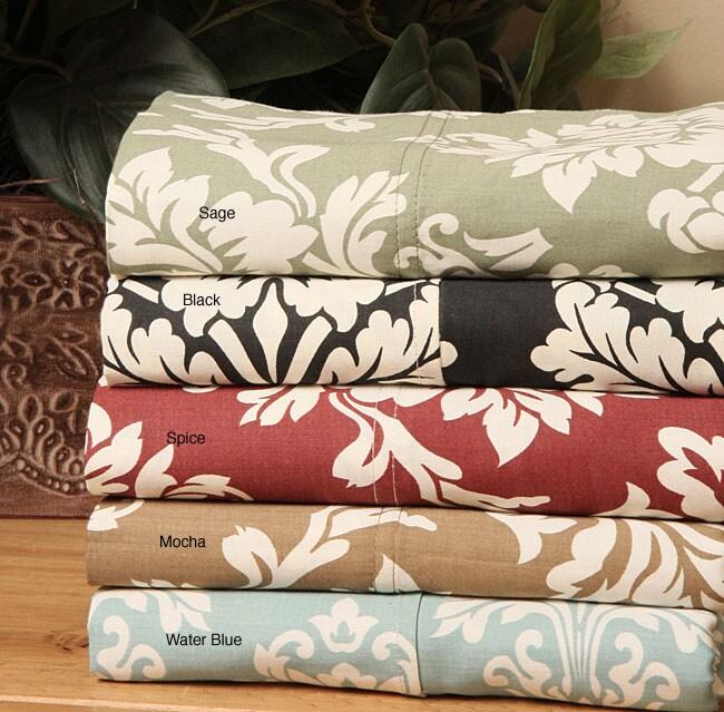 Havanah Floral Print 300 Thread Count Sheet Set
