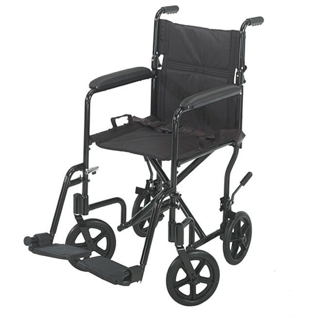 Shop Cosco 17 Inch Black Aluminum Transport Chair