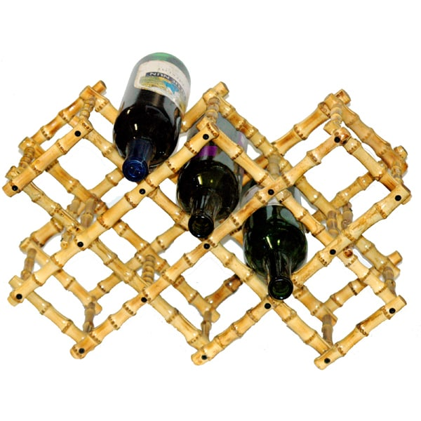 Folding Bamboo Wine Rack (China)