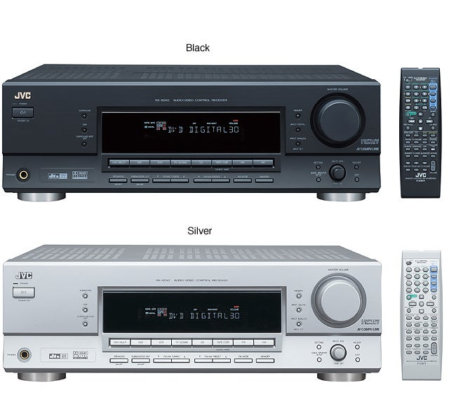 JVC RX-6040B/6042S 100W x 5 A/V Receiver (Refurbished)