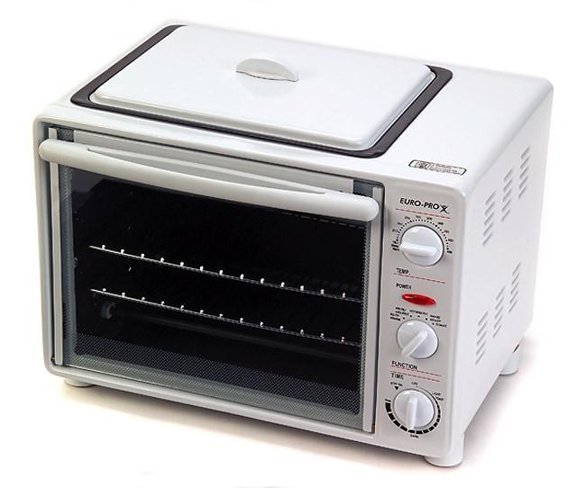 Euro Pro Toaster Oven Rotisserie Griddle Refurbished