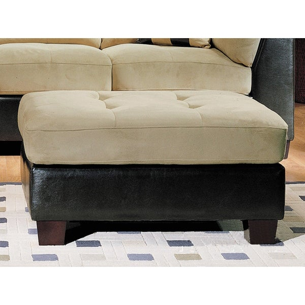 monica tufted microsuede ottoman free shipping today