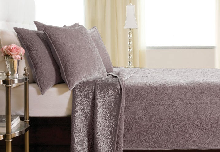 Sophie Velvet Quilt Set Mauve Free Shipping Today