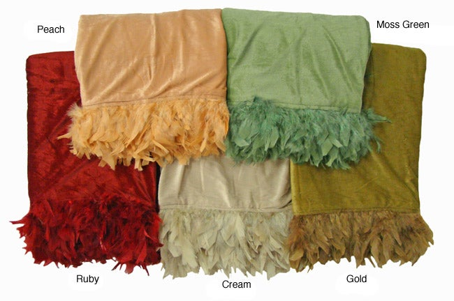 Feather Trimmed Throw