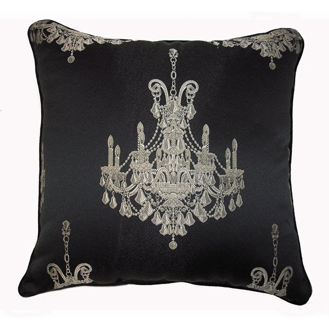 Black Silver Throw Pillow : Chandelier Silver/ Black Throw Pillow - Free Shipping On Orders Over $45 - Overstock.com - 11351791