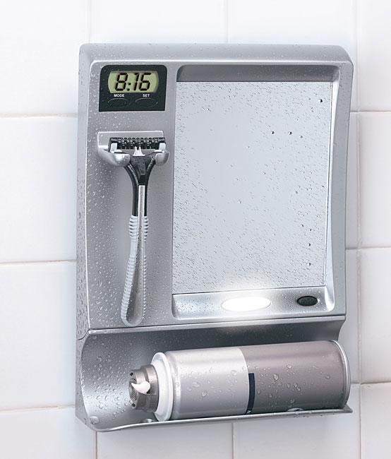 Fog Free Shower Mirror With LED Light U0026 Clock