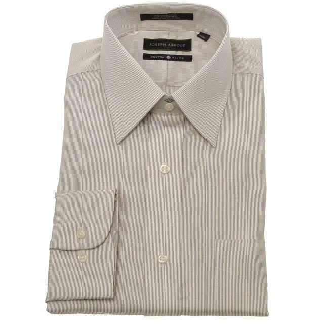 Joseph abboud men 39 s tan stripe dress shirt free shipping for Joseph abboud dress shirt