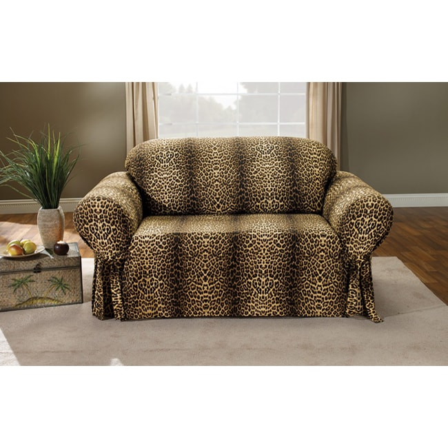 leopard sofa slipcover free shipping today overstock