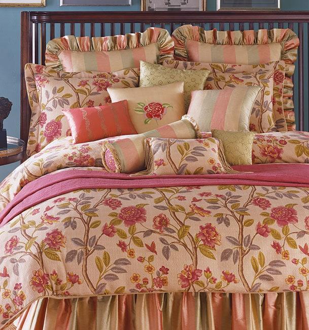 Oscar de la Renta 4-piece Crimson Comforter Set