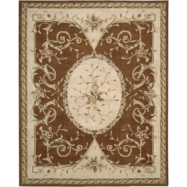 Nourison Hand-tufted Brilliante Persian Wool Rug (7'3 x 9'9)