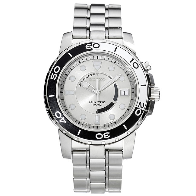 Seiko Kinetic Men's Steel Quartz Watch