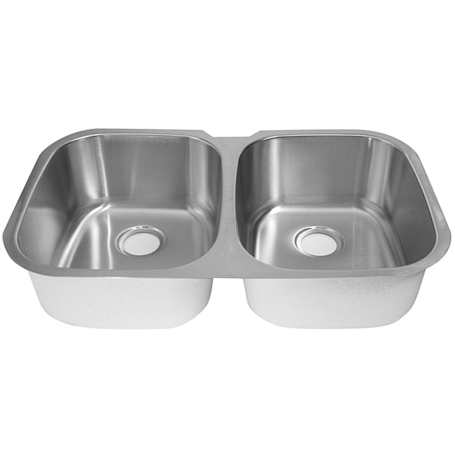DeNovo Double Equal Size Stainless Steel Kitchen Sink - Thumbnail 0