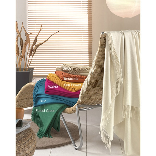 Dandy  Italian-made Cashmere Fringed Throw