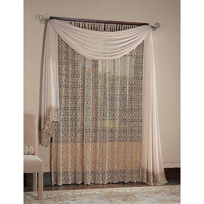 Bali Macrame Tab Top 84-inch Window Curtain Panel - 11357484 ...