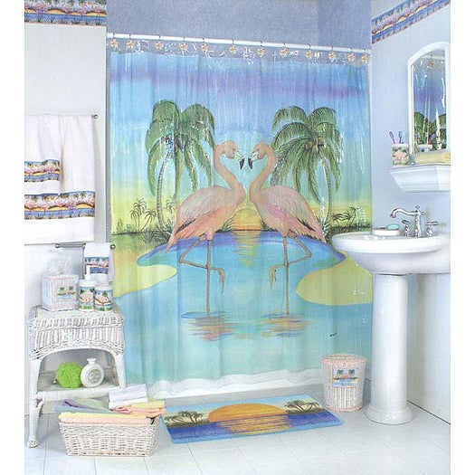 South Beach Shower Curtain with Hooks - Free Shipping On Orders ...