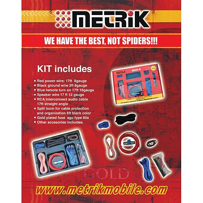 Metrik 1200 Watt Complete Amplifier Hook-up Kit