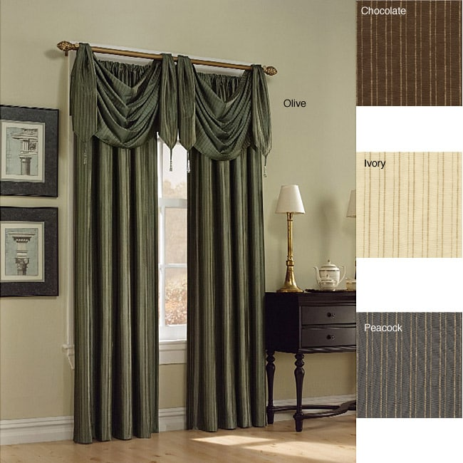 Surrey Stripe 95-inch Lined Window Curtain Panel