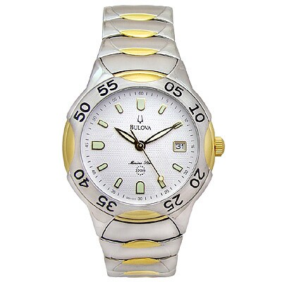 Bulova Marine Star Mens 100m Two tone Watch  ™ Shopping