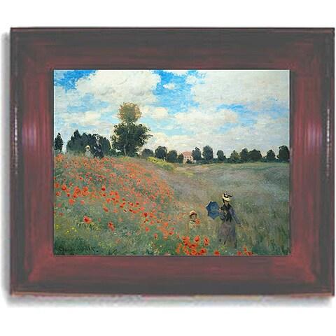 Claude Monet 'Poppyfields' Framed Canvas Art