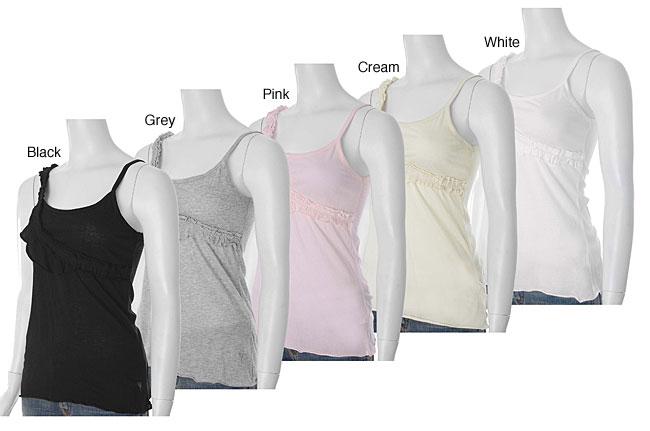 Mystree Women's Ruffle Design Fashion Tank Top