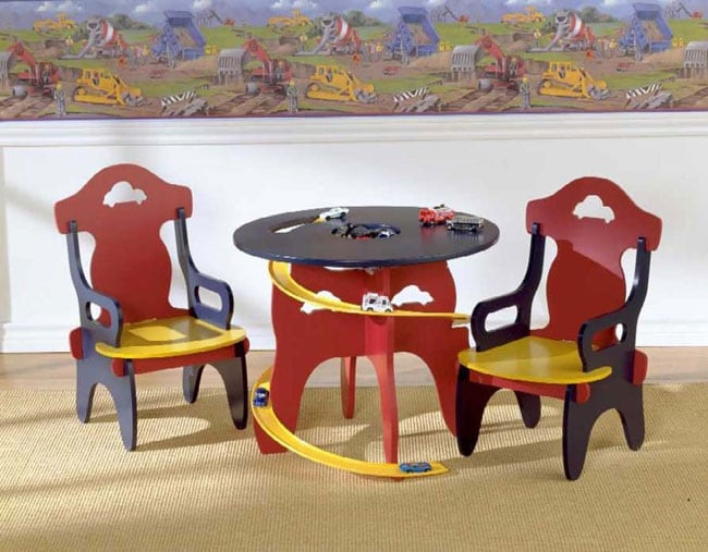 Children's Race Track Table and Chair Set