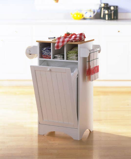 storage trash bin with cutting board top free shipping