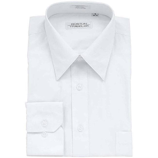 Boston Traveler Men's White Dress Shirt