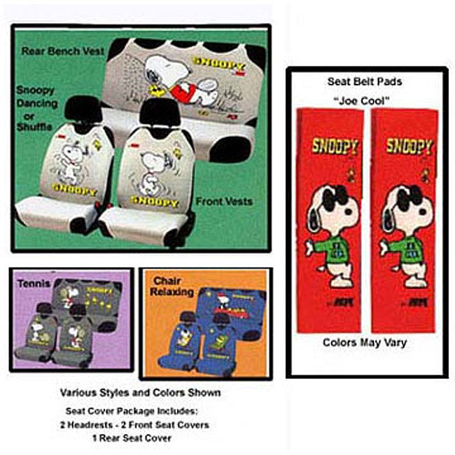 Snoopy Seat Cover Auto Accessory Set Free Shipping Today