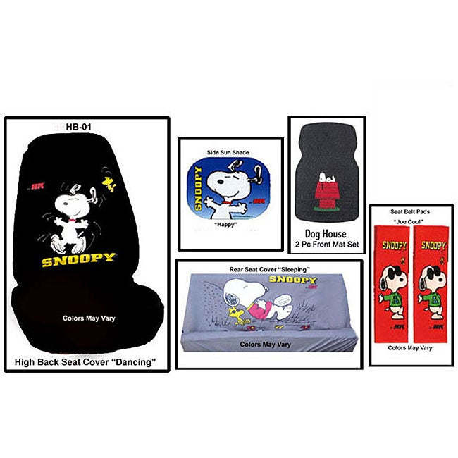 Snoopy Seat Covers Floor Mats And More Auto Accessory Kit