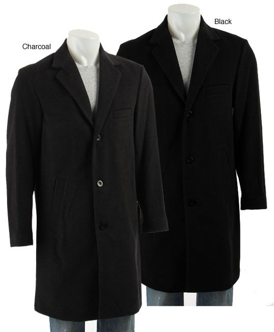 Claiborne Men's Wool and Cashmere Blend Car Coat - Free Shipping ...