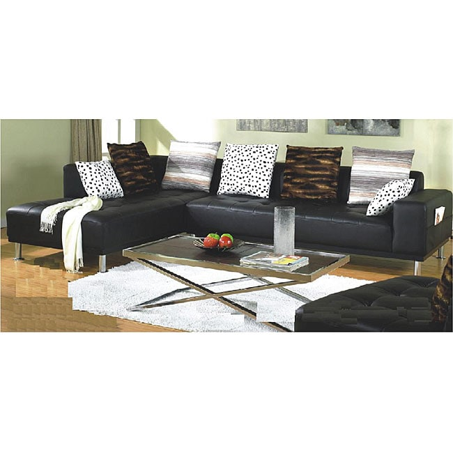 Furniture Of America Ibiza 3 Piece Bicast Leather