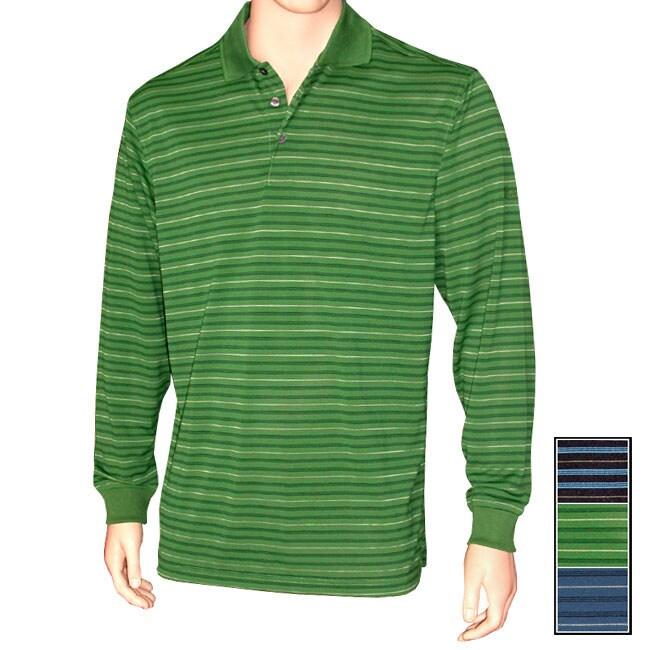 Walter Hagen Golf Collection Long-sleeve Stripe Polo
