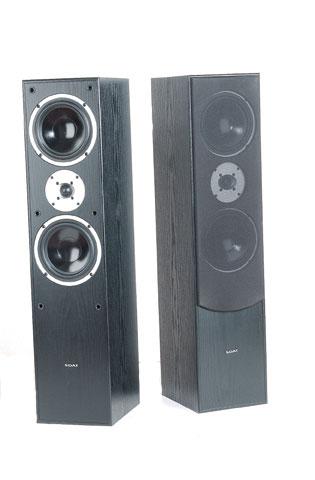 Shop Sdat E70 Hi Fi Black Floor Standing Speaker System