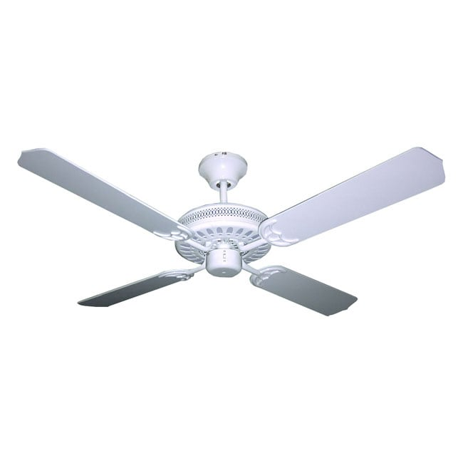 Four-blade 52-inch White Finish Ceiling Fan