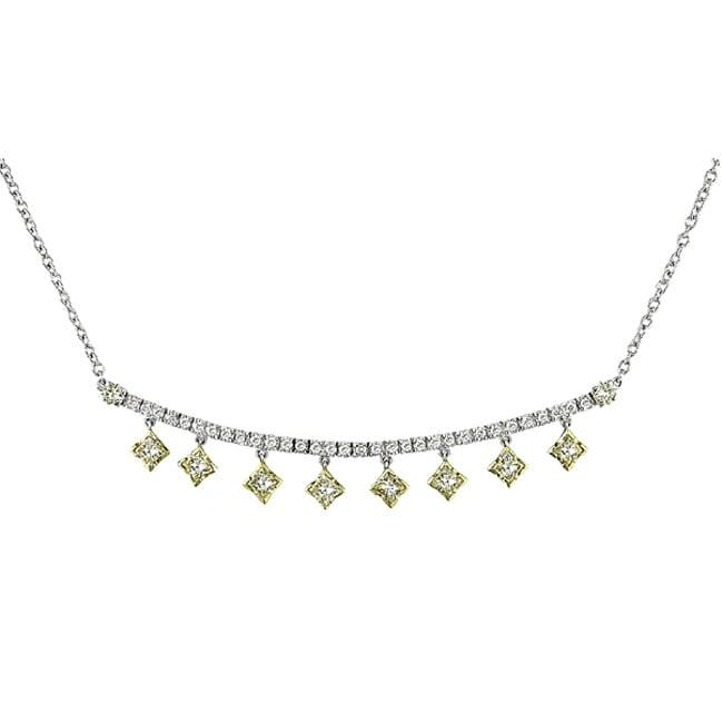 Miadora 18k Two-tone Gold 3ct TDW Diamond Necklace (F-G, VS)